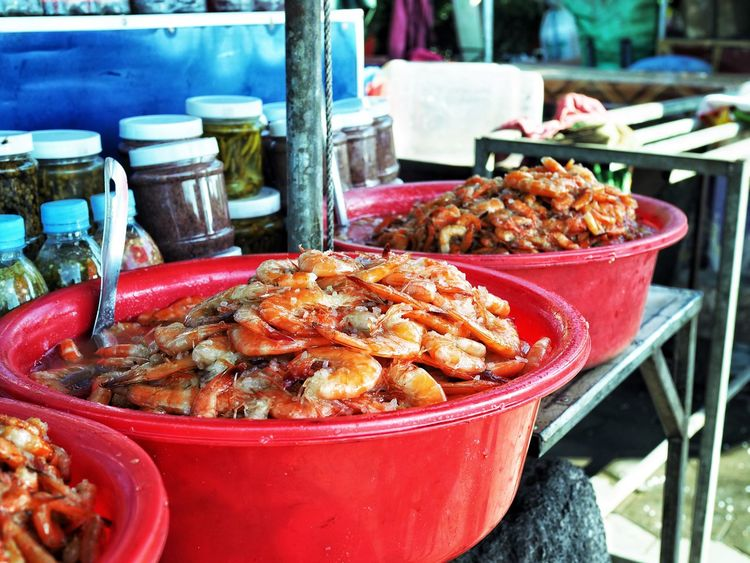 Prawns for sale Asian Market Food Market Crab Market Cambodia Kep Shrimps Prawns Food Food And Drink No People Day Focus On Foreground Outdoors Freshness Market Ready-to-eat