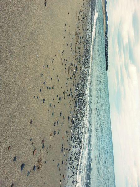 Seaside Sea And Sky Bray, Ireland 자갈돌
