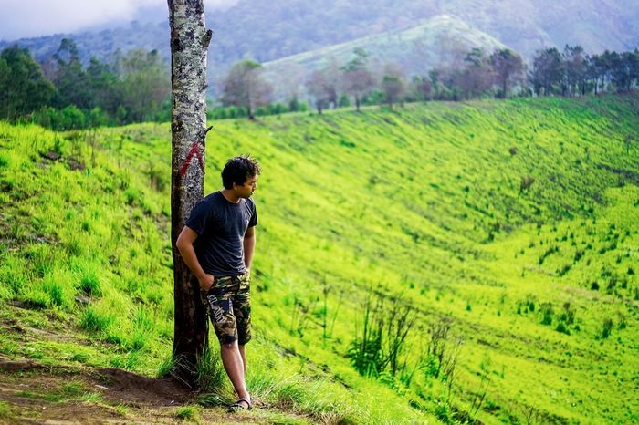 Lost In The Landscape Nature Field Agriculture Green Color Mountain Outdoors People Plant Travel Kawahwurung Bondowoso EyeEmNewHere