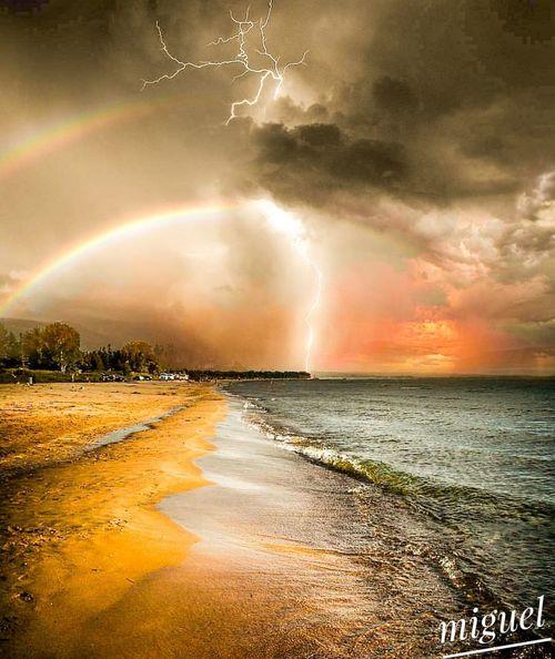 tempestade no mar Mar Tempestade Praia Noite