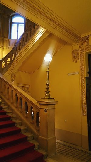Architecture Indoors  History Elégance No People Built Structure Gold Colored Illuminated Luxury Gold Day Light Light Through The Window Stairs