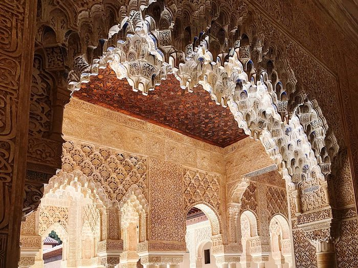 Arches Arab Architecture Moorish Architecture Architecture The Past History Built Structure Art And Craft Travel Destinations Low Angle View Building Exterior Tourism Ancient Building Creativity Belief Travel No People Religion Place Of Worship Day Craft Pattern