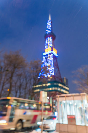 Sapporo tower Architecture Building Building Exterior Built Structure Celebration Christmas christmas tree City Decoration Illuminated Low Angle View Nature No People Office Building Exterior Outdoors Plant Sapporo Sky Tall - High Tower Travel Destinations Tree