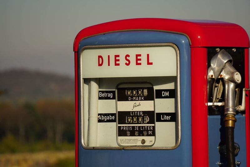 Close-up of fuel pump at gas station