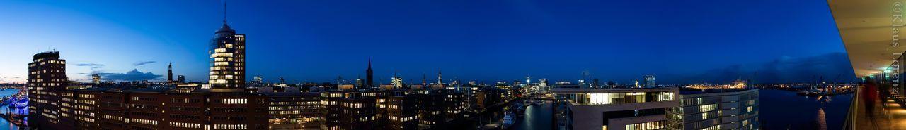 Nacht Nachtfotografie Nachtaufnahme Hamburg Elbphilharmonie Plaza Elbphilharmonie Elbphilharmony Panorama Panoramic Photography Panoramic