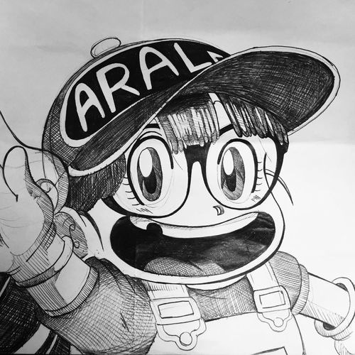 Enjoy The New Normal Toon Sketch Text No People Close-up Sky Outdoors Day Arale DrSlump Drawing Bic Dragonballz EyeEm Best Shots DBZ Marseille Draw Art Atwork ArtWork Sunset Glasses Snapback Backgrounds