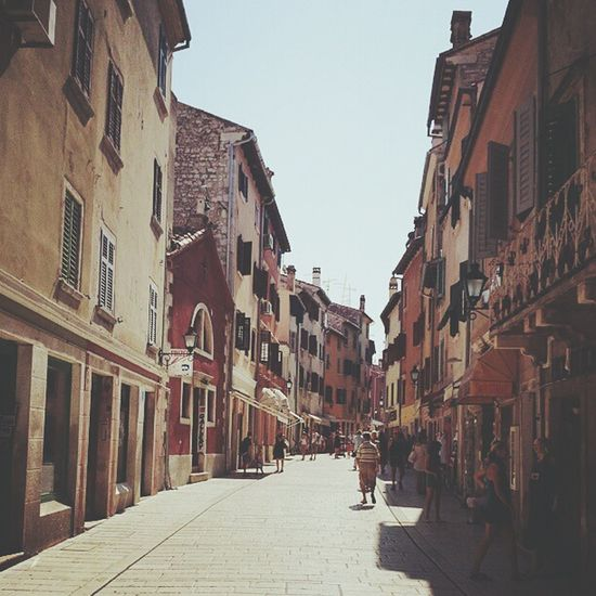 Summer in Croatia and beautiful tiny streets of Rovinj. Skrill IT Far From Home Holiday Photography Summer