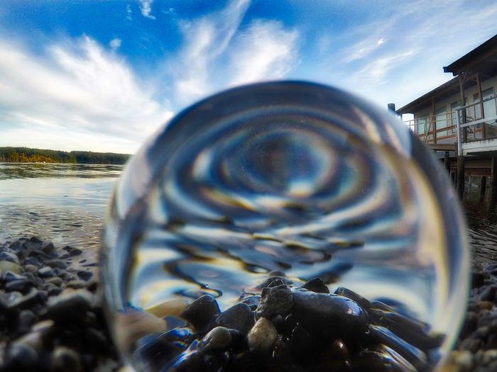 Sunday Funday Oceanside Lensball Mountains And Sky Rocks And Water Sea And Sky Tranquil Scene View From Above Viewpoint