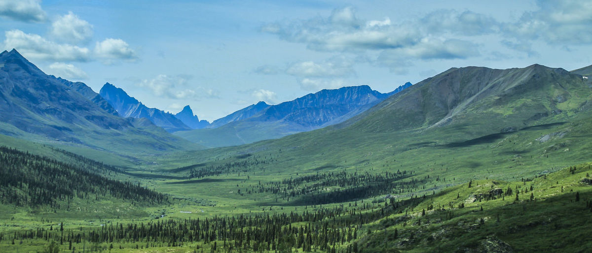 Dempster Highway Yukon Beauty In Nature Canada Day Landscape Mountain Mountain Range Nature No People Outdoors Scenics Sky Tranquil Scene