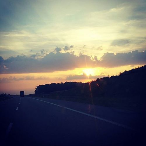 Road to Hel ✌🚗 Sunrise Sun Holiday Chalupy Highway Road Drive Windsurfing Chalupy Beautiful Landscape Road Hell Go2Hel