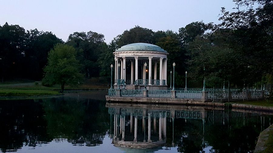 Roger Williams Park Early Morning Sunrise Gazebo At The Park