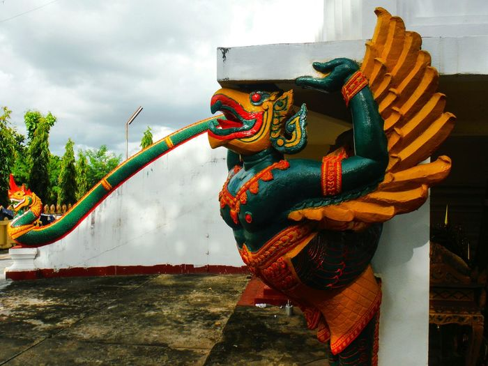 Guardian Garuda Garuda Statue Guardian Statue Colorful Statue Naga Naga Statue Garuda And Naga That Luang Pha That Luang Thatluang Thatluangtemple Phathatluang Laos Temple Laos Travel Pha That Luang Laos Explore Laos Travel Laos Vientiane Vientiane Laos Vientiane, Laos Temple Statue Asian Temple Multi Colored Outdoors