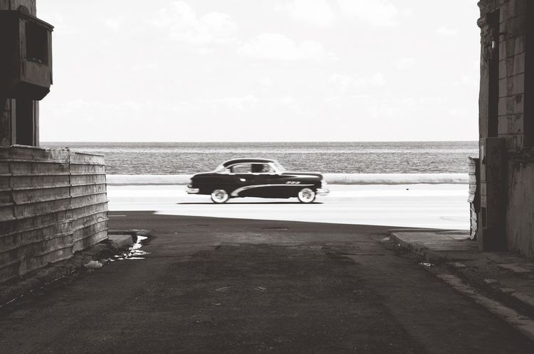 Sea Beach Horizon Over Water Water Car Sky Transportation Day Outdoors No People Nature Architecture Built Structure Scenics Beauty In Nature Fast Cars (null)View Malecon Sea And Sky Retro Styled Oldtimer Havanna, Cuba Cuba Havana