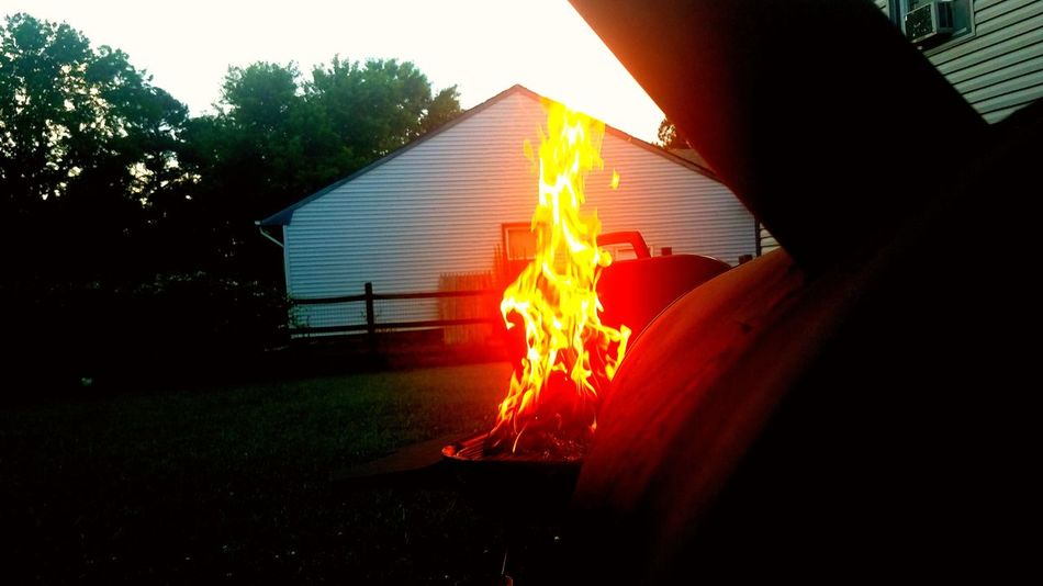 Looks like a centaur Flame Glowing Outdoors Day 757 Photography Ilovesmoking Dry Rub 757food 757 Ohotography BBQ Nightfall Homemade 757photographer 757 Eats Taking Photos Smoking Meat Grass Water Clear Sky Enjoying Life Just The Two Of Us Nature