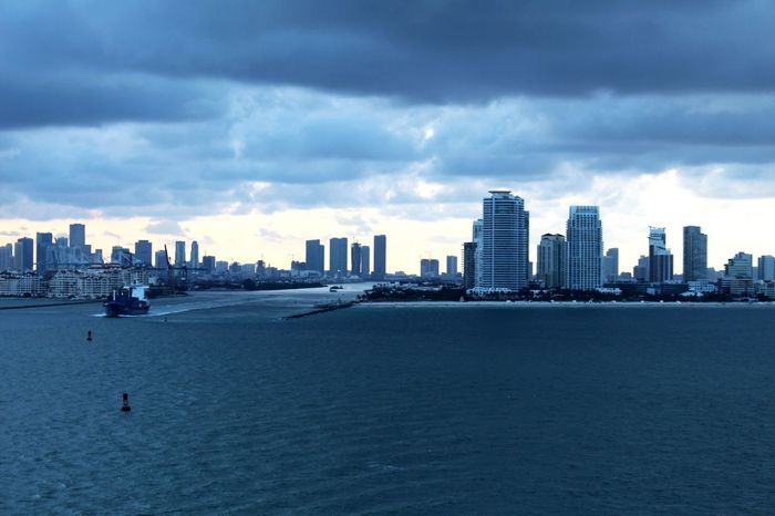 Miami Skyline Miami Miami, FL Miami EyeEm Selects Architecture Skyscraper Sky Built Structure Building Exterior Cityscape City Cloud - Sky Sea Waterfront Urban Skyline Water Travel Destinations Outdoors Day Nature No People