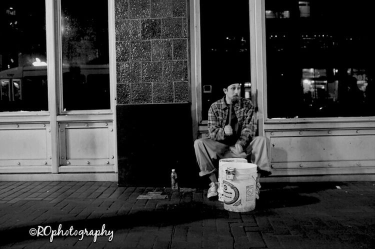 drummer boy... Nightphotography Blackandwhite Black And White Street Photography Street Life San Francisco Streetphoto_bw Streets Of San Francisco Noir Et Blanc Urbanography Streetphotography