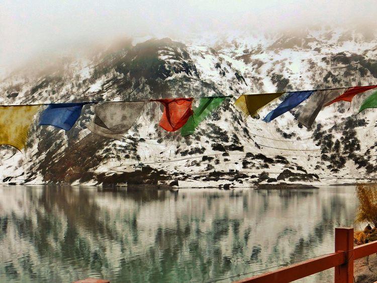 destiny Water Mountain Reflection Religion Cloud Gangtok Forsell Blue Warm Cold Aqua Hey  Modern Art Art Studio EyeEmNewHere
