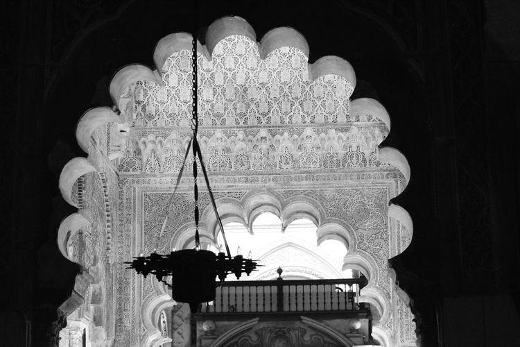 Cordoba Arquitectura Mezquita Blanco Y Negro