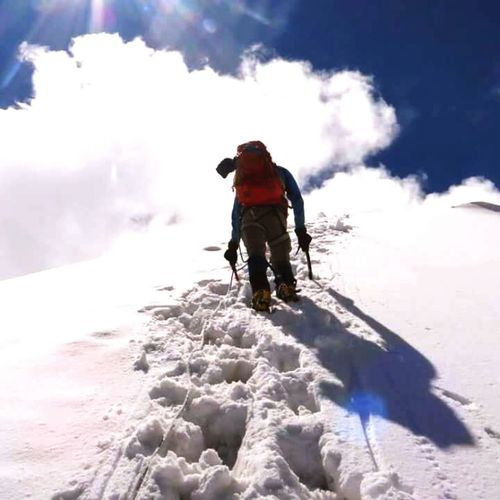 Full Length Snow Winter Adventure Mature Adult Adult One Man Only Mountain Warm Clothing Day Cold Temperature Adults Only Outdoors One Person People Only Men Headwear Vacations Ski Holiday Sky Second Acts