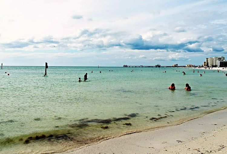 Beach Relaxing Beautiful Day Shoreline White Sand Clear Water Blue Sky Ocean Gulf Of Mexico Water_collection