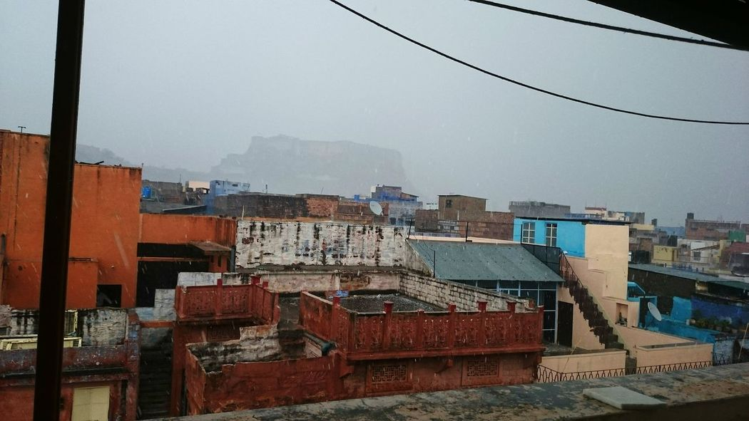 From The Rooftop Rainy Day Mehrangarhfort Blue City Relaxing