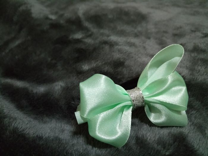 Ponytail Hair Accessories Mint Green Indoors  No People Christmas Gift Close-up