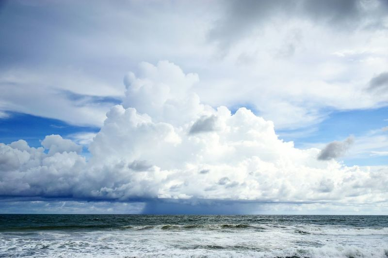 SCENIC SHOT OF CALM SEA And Cloudy Sky
