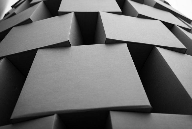 Vertices. Cardboardporn Art Installation Boxes Zimoun Macinternational Belfast Geometric Shapes