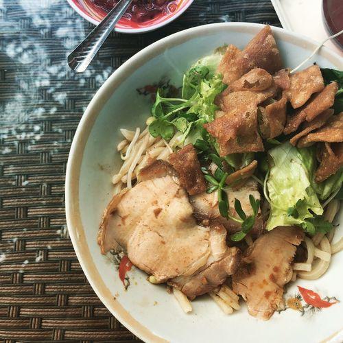 Hoian, Vietnam Cao Lau Noodles Served Roasted