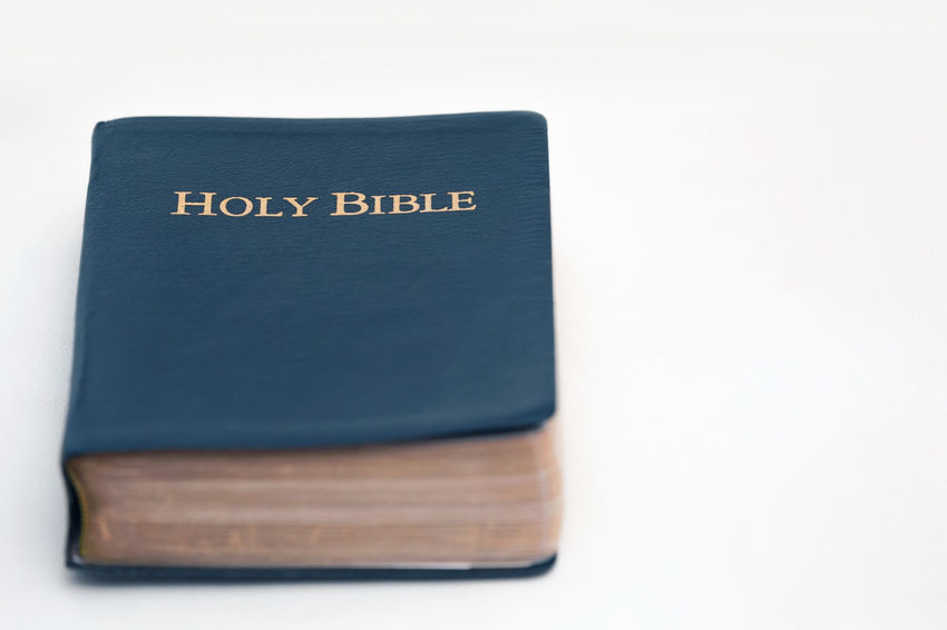 Holy Bible on White Background Christian Faith KING JAMES Spirituality Testament Truth Wisdom Word Of God Belief Bible Gospel Holy Kjv Religion Scripture