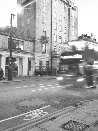 Shades Of Grey Black And White London London Bus