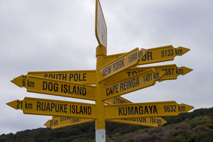 Low Angle View Of Street Name Signs Against Sky