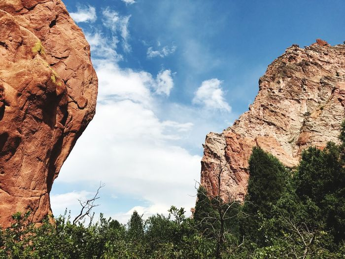 Garden Of The Gods Hiking Adventures Hiking Colorado Photography Colorado EyeEm Selects Sky Cloud - Sky Plant Tree Nature Low Angle View Beauty In Nature Travel Destinations Building Exterior Outdoors Architecture No People Day Growth Art And Craft Sunlight
