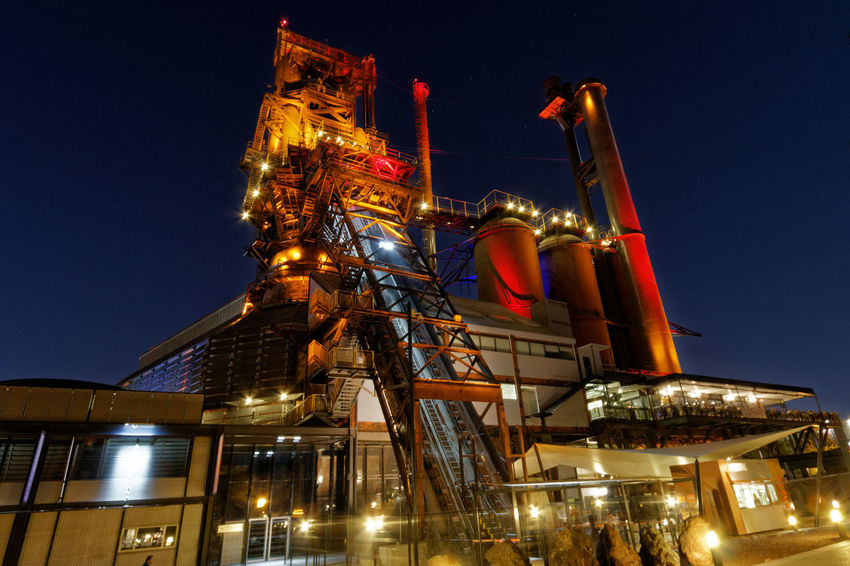 Fundidora Architecture Fundidorapark Industrial Photography Low Angle View Nightphotography No People Sky Steel Factory Steel Structure