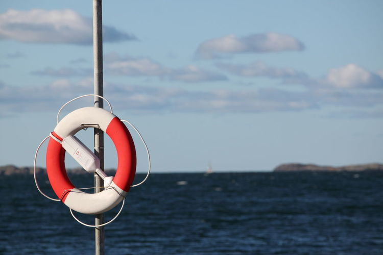 Life belt by sea