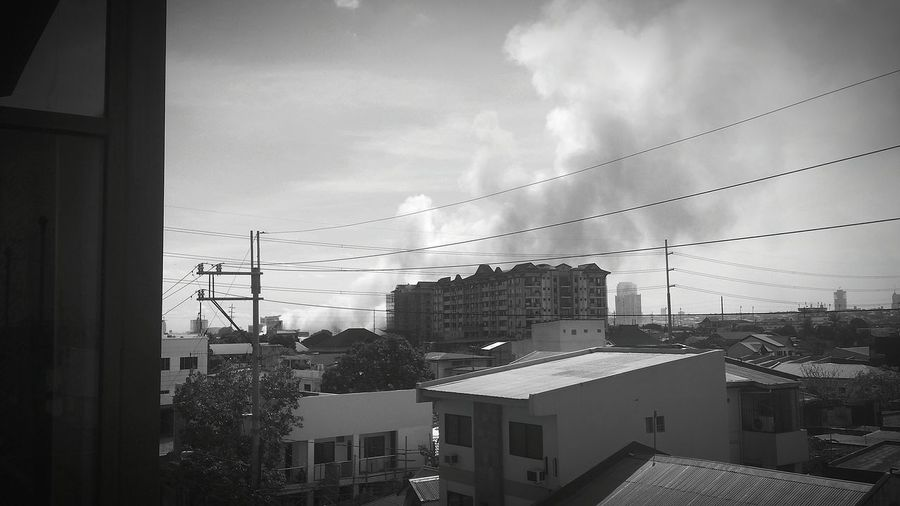 Smoke. Fire Pasig City March2015 Black & White Blackandwhite Photography First Eyeem Photo