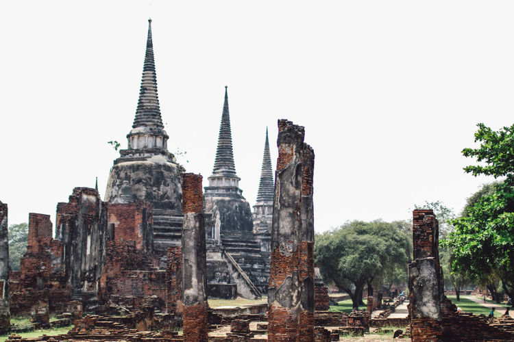 ON 26 May 2019,The old famous temple in Thailand world heritage / Wat Phrasrisanphet Religion Place Of Worship Belief History Built Structure Architecture The Past Spirituality Sky Travel Destinations Building Exterior Ancient Building Clear Sky Tourism Travel No People Ancient Civilization Outdoors Spire  Ruined Archaeology Old Architecture Ancient Culture Travel Landmark Thailand Pagoda Buddhism Vintage Historical Heritage Buddhist Ayutthaya Buddha Tourist Thailand Travel Ruins Unesco Thailand Tourism Brick Brick Wall Temples Statue Traditional Structure Historic Tour