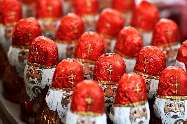 Close up of wrapped chocolates