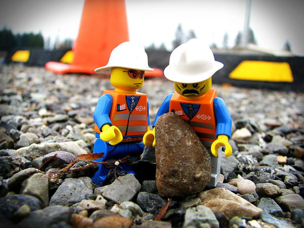 Hard at Work Blue Close-up Colorful Construction Day Focus On Foreground LEGO Legophotography Multi Colored Nature No People Outdoors Pebble Plastic Rocks Selective Focus Sky Still Life Stone - Object Sunny Surface Level Toy Working Working Hard Yellow