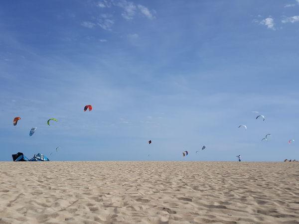 Beach Flying Sand Sea Sky Blue Kite - Toy Kites On The Beach Kite Surfers Kite Kitesurfers Kitesurf Kite Boarding Kite Surfing Kitesurfer Kitesurfing Corralejo, Fuerteventura Corralejo Blue Sky Kiteboarding Travel Vacations Travel Destinations Beach Photography