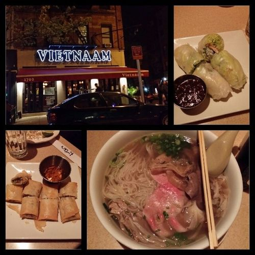 First time having Vietnamese food. Its funny since I have so many Asian friends. Smh. Nycalive Citylife Nightlife Foodoverload foodporn vietnamese pho sofull asian sake vietnamesebeer uppereastside nystyle nyc ny nylife nycstreets