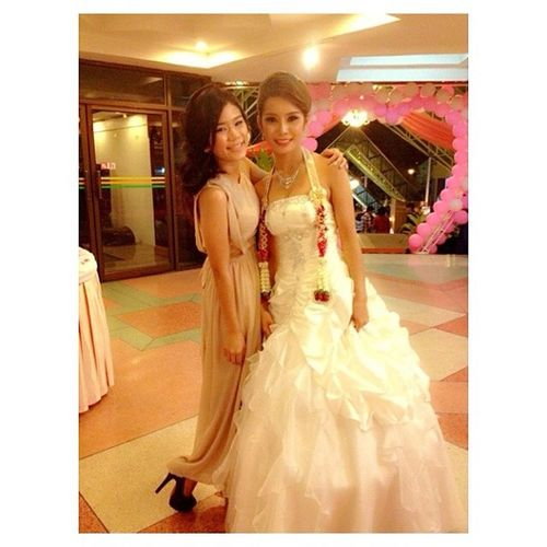 My sister's wedding ,i love u ?