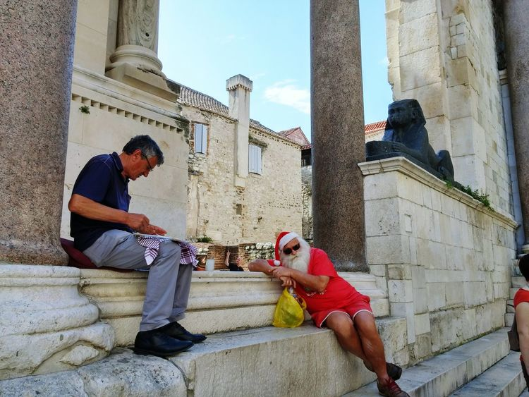 At the Diocletian's Palace Hello World Travel Photography Split Croatia People
