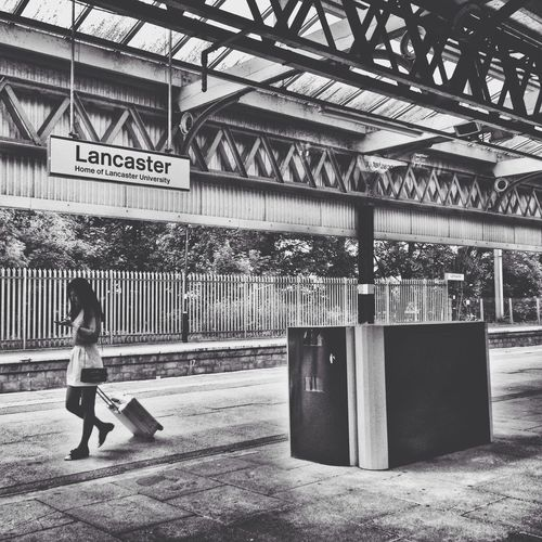 Lancaster Train Station Lancaster England United Kingdom Black & White