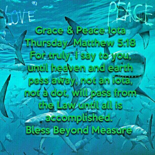 Grace & Peace Iota Thursday