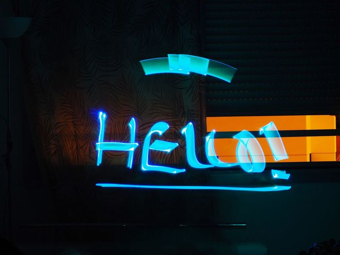 https://youtu.be/X8DhlfxHhns Illuminated Text Neon Communication Western Script Night No People Sign Lighting Equipment Low Angle View Dark Glowing Capital Letter