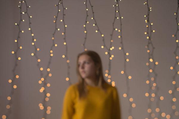 lights Tilt-shift Lights Child Defocused Studio Shot Happiness Multi Colored Smiling Portrait Gold Colored Standing Celebration