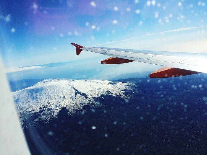 Nice day From An Airplane Window Comebackhome Catania, Sicily Wonderful Enjoying The View Ryanair Blue Sky OpenEdit