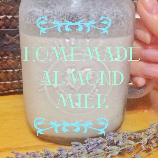 Homemade Almondmilk Yummy Healthy ??