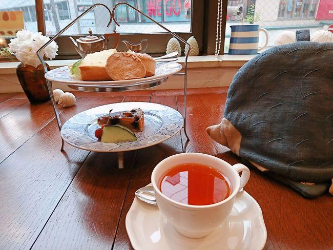 ハリネズミの紅茶屋さん☆ Food And Drink Table Tea Cup Tea - Hot Drink Sweet Food Drink Dessert Unhealthy Eating Delicious Cake Cake Time Teatime